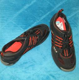 SPERRY Womens Black/Orange TOP-SIDER  Water Shoes SON-RTechn