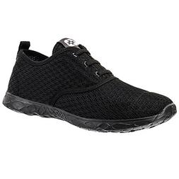 ALEADER Men's Stylish Quick Drying Water Shoes All Black 10
