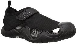 Crocs Men's Swiftwater Sandal M Flat black/black, 12 M US