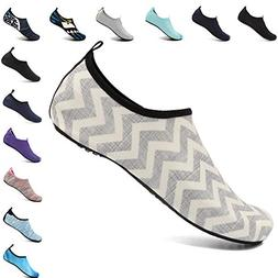 VIFUUR Men Women Swim Water Shoes Barefoot Aqua Socks Shoes