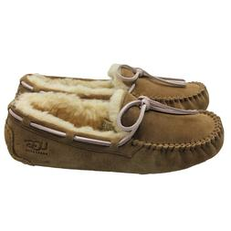 UGG Dakota Womens Genuine Suede Chestnut Moccasin Slippers S