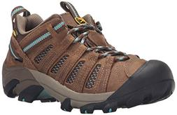 KEEN Women's Voyageur Shoe, Dark Earth/Lagoon, 8.5 M US