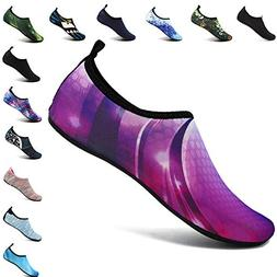VIFUUR Men Women Water Shoes Barefoot Skin Shoes for Run Div