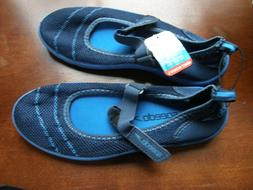 Womens Speedo Water Shoes Navy Blue Size Small 5-6 NEW