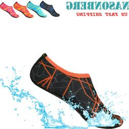 NASONBERG Water Shoes Aqua Surf Swim Skin Socks for Women Be