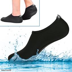 Eco-Fused Women's Water Socks with Elastic, Quick Dry, Bre
