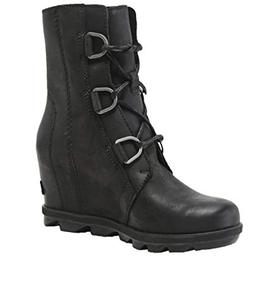 Sorel Women's Joan of Arctic Wedge II Boots, Black, 9 M US