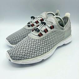 TIANYUQI Women's Mesh Slip On Water Shoes Gray 12.5 US 43 EU