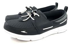SPEEDO WOMEN'S PORT BOAT WATER SHOES -  BLACK/GREY/WHITE - S
