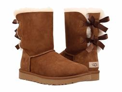 Women's Shoes UGG Bailey Bow II Boots 1016225 Chestnut Water