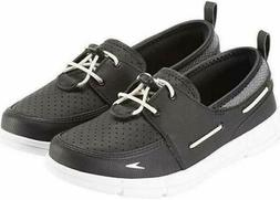 Speedo Womens 10745 Black White Slip-On Port Water Shoes Bun