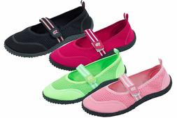 Womens Aqua Water Shoes Beach Pool Yoga Dance  Hook and Loop