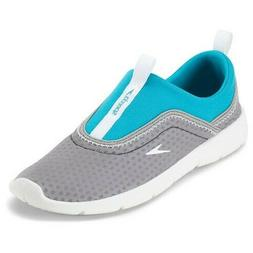 Speedo Womens Aquaskimmer Water Shoes Gray - Size Small 5/6
