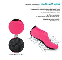 Womens Barefoot Water Skin Shoes Aqua Socks for Beach Swim S