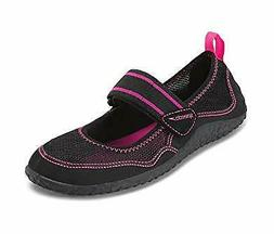Speedo Womens Mary Jane Water Beach pool Shoes Black - Size