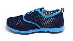 Aleader Womens Quick Drying Aqua Water Shoes Blue Multi Size