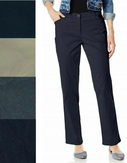 LEE Women's Relaxed Fit All Day Straight Leg Pants 4 6 8 1