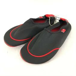 OZ Womens Water Shoes Fabric Slip On Black Red Size M US 6-7