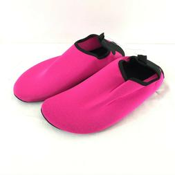 Womens Water Shoes Fabric Slip On Lightweight Hot Pink Size