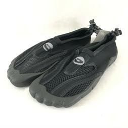 Easy USA Womens Water Shoes Slip On Drawstring Black Size 8