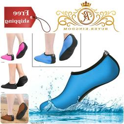 Womens Water Shoes With Elastic Breathable Fabric And Non Sl